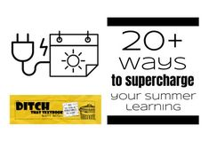 ways to supercharge your summer learning - Ditch That Textbook Teacher Summer, Best Teacher, Choice Boards, Professional Development, To Focus, Online Courses, Bingo, Textbook, Training Online