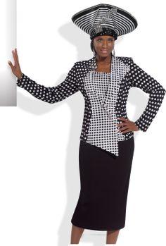 Polka-dot Fashionist Church Suit by Donna Vinci 2993 $299.00