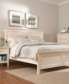 Claymore Park Off White 8 Pc King Panel Bedroom For The