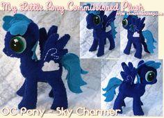 My Little Pony Custom Plush Commission: OC Pony - Sky Charmer ( I want my oc as a plushy)