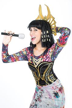 "Katy Perry's DayGlo Cleopatra in ""Dark Horse"": ""This costume was so ornate and loud, I felt like I was at my most powerful. I was ready to give a (lip-synched) concert at the Great Pyramid. I would wear this forever."""