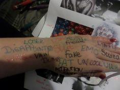 different words for self harming!!!!!