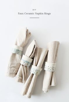 diy faux ceramic napkin rings   almostmakesperfect