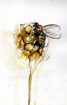 bees tattoo watercolor - Google Search