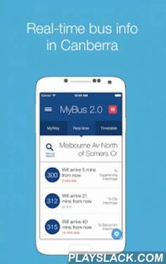 MyBus 2.0 Canberra  Android App - playslack.com ,  Imagine Team is proud to bring to you MyBus 2.0, Canberra's most popular multi-award winning public transport app, with over 67,000 active users in Canberra. Now with real-time data!All new graphics and all new features enabling you to: ★ See real-time bus data ★ Search buses by bus number ★ Recharge and view your MyWay account details (balances, past transactions etc.) ★ Find your closest bus stops ★ Save your favourite routes MyBus 2.0 has…