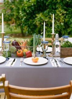 {Farm Wedding Ideas} decorate your tables with fresh produce or herbs.