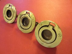 Salvaged Brass Hardware Furniture Drawer Pulls