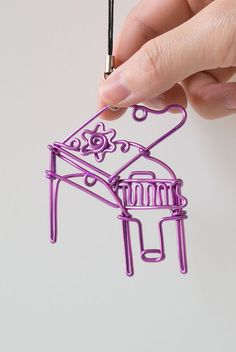 One Wire Personalized Handmade Piano Ornament/ Custom by YCWireArt, $18.80
