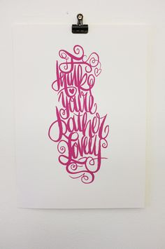 Typography inspiration - I Think Youre Rather Lovely