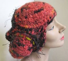 Fuzzy Navel Nubbin- freeform crochet hat 2008