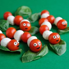 Edible Caterpillars - what a cute party food idea for kids - great for a bug themed party!