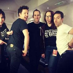Awesome show last night in Nottingham with these guys! Don't they look great in Monkee Genes? @pierrebouvier @seblefebvre #simpleplan #TeamSP #MonkeeGenes #ethicalfashion #jeans #denim