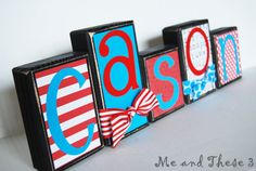 Wooden letter blocks customized