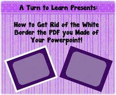 does your PDF always save with an annoying white border?  if so, check out this quick and easy fix to get rid of the white border on your pdf!
