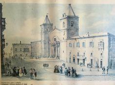 Original photo of the church of St. John in Valletta - Malta. Photo taken by the Schranz brothers in 1840.