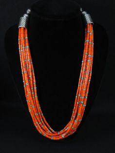 Vintage Pueblo Coral and Turquoise Necklace
