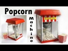 Máquina de palomitas en miniatura - Creating Dollhouse Miniatures: Miniature Popcorn Machine Tutorial
