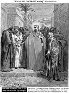 Christ And The Tribute Money - Gustave Dore