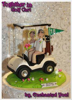 Golf wedding cake topper by maraluiza on Etsy, $150.00 | Cake ...