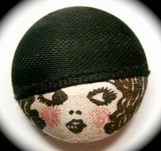 VIntage Flapper Girl Silk Garter button