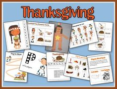 Thanksgiving preschool printables pack- not yet done with my child