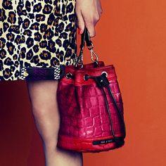House Of Holland pink bucket bag. www.handbag.com