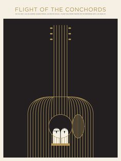 Flight of the Conchords poster by Jason Munn (2010)