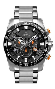 MaVie Equinox Chronograph Timepiece For Men (Orange)