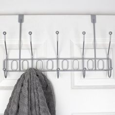 Ebern Designs Attach this hook rack behind your bath and bedroom doors for easy access to all your belongings. Perfect for storing handbags, robes, and coats. No drilling required to install, so you enjoy instant hanging space right at your fingertips. Coat Rack With Storage, Cubby Storage, Laundry Room Storage, Storage Design, Shoe Storage, Shoe Racks, Wall Mounted Shoe Rack, Wall Mount Rack, Wall Racks