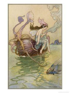 nautilus shell riding fairy...
