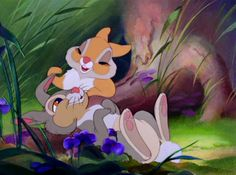 Bambi Thumper and Miss Bunny Disney Pixar, Disney Animation, Art Disney, Disney Kunst, Disney Cartoons, Disney Love, Disney Magic, Disney Characters, Funny Cartoons