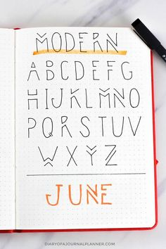 Lettering Fonts Discover Bullet Journal Fonts Fonts For Bullet Journal You Need To Try!) Looking for bullet journal fonts to embellish your journal and improve your handwriting? Check the amazing fonts for bullet journal that you can try today! Bullet Journal Alphabet, Bullet Journal Headers, Bullet Journal Aesthetic, Bullet Journal Notebook, Bullet Journal Ideas Pages, Bullet Journal Inspiration, Art Journal Pages, Bullet Journals, Journal Prompts