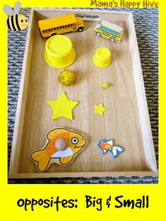 Montessori toddlers - Learning about opposites - big small, and spatial constructs Toddler Classroom, Montessori Toddler, Toddler Play, Montessori Activities, Toddler Learning, Infant Activities, Toddler Preschool, Baby Playroom, Montessori Bedroom