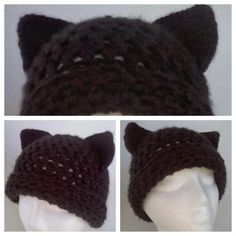 Yvette Marie Crafts: Free Crochet Pattern Extra Thick Women's Kitty Cat Hat