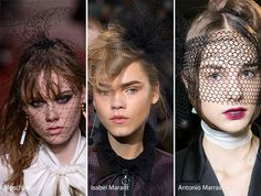 Fall/ Winter 2016-2017 Hair Accessories Trends: Mesh Veils