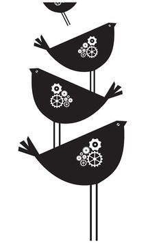 0cfa780894 Minimalist Art Screenprint Black and White Bird Art - We Fly On The Back Of  Our Forebears Print - ha
