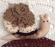 Tilda snail. Soft toy. Interior toy gift