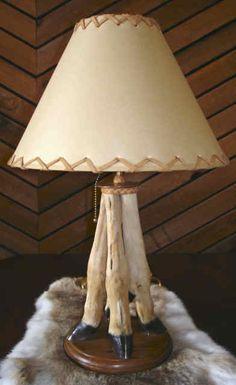Vintage deer hoof lamp real deer leg table lamp taxidermy wood desk deer leg lamp aloadofball Image collections