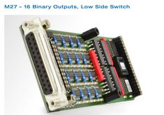 Features: 1) 16 individual programmable digital outputs 2) Bipolar transistor technology, fast switching 3) Open collector outputs 4) Suppressor diode protection against inductive loads 5) 500mA per channel 6) Optically isolated outputs 7) Common ground
