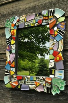 Love this Mosaic Mirror