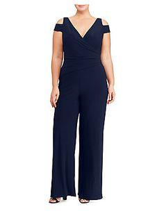 472f2d05ae5 Lauren Ralph Lauren - Plus Cold Shoulder Stretch Jersey Jumpsuit. Plus Size JumpsuitJumpsuits  For WomenJean OutfitsPants ...