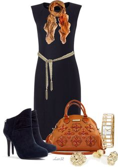 """""""Navy and Orange"""" by christa72 on Polyvore"""