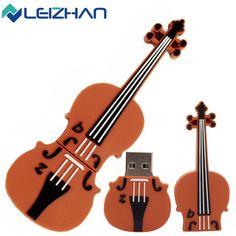 LEIZHAN USB Flash Drive Musical Instrument U Stick 64G 32G 16G 8G 4G Pendrive USB2.0 Cello Pen drive Violin Memory U Disk Device