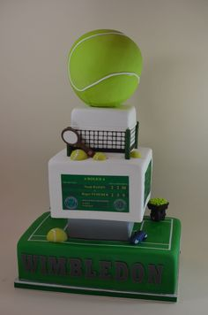 Tennis Bar Mitzvah Cake - Fun cake that was really large!  We blogged about this cake this week if you want lots of details.