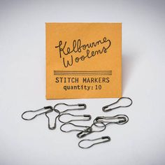 Kelbourne Woolens Stitch Markers. 10 removeable coil-less stitch markers perfect for noting different areas within your project - $1.00.