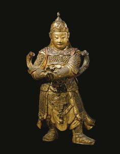 A LARGE GILT-LACQUERED WOOD FIGURE OF WEITUO<br>CHINA, MING DYNASTY, 17TH CENTURY   Lot   Sotheby's