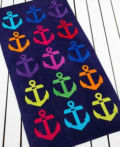 Lacoste anchor beach towel