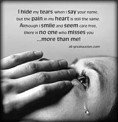 There is no one who misses you more than me!!