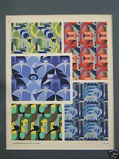 VERNEUIL M.P. Kaleidoscope 1925 pochoir   eBay
