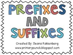 Suffixes and Prefixes Activity Pack | Primary Punch | {2-5}